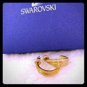 Swarovski gold tone plated earrings